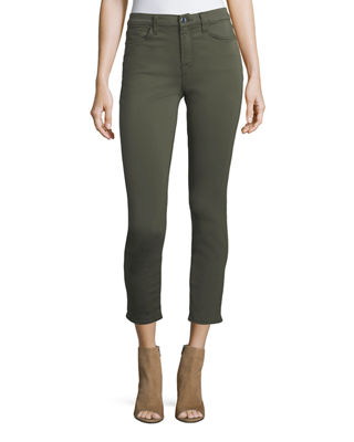 Image 1 of 4: Brushed Sateen Skinny Ankle Jeans