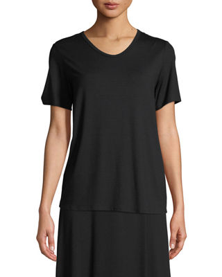 Eileen Fisher Soft Jersey Easy V-Neck T-Shirt