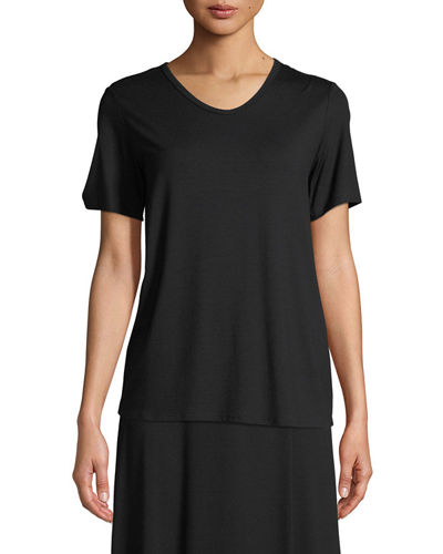 Soft Jersey Easy V-Neck T-Shirt, Petite