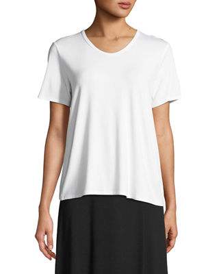 Eileen Fisher Soft Jersey Easy V-Neck T-Shirt, Petite