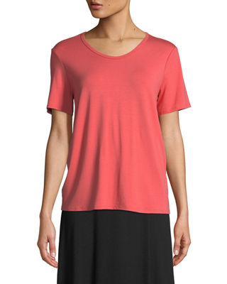 Eileen Fisher Soft Jersey Easy V-Neck T-Shirt, Plus