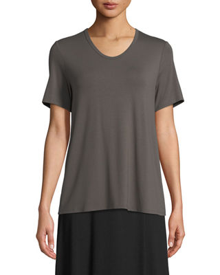 Soft Jersey Easy V-Neck T-Shirt, Plus Size