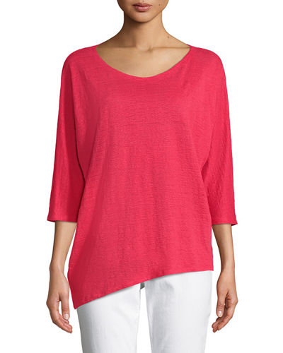 Organic Linen Jersey Top, Plus Size
