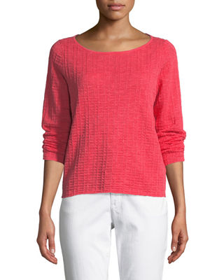 Eileen Fisher Organic Linen/Cotton Knit Box Top
