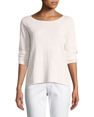 Organic Linen/Cotton Knit Box Top, Petite