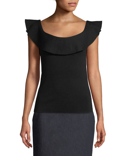 Elie Tahari Eavanna Flounce-Hem Pencil Skirt and Matching