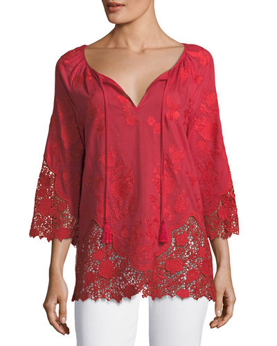 Mariella Self-Tie Blouse