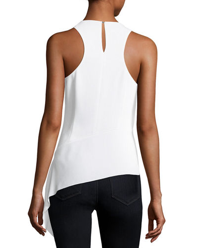 Ebony Asymmetric Sleeveless Blouse