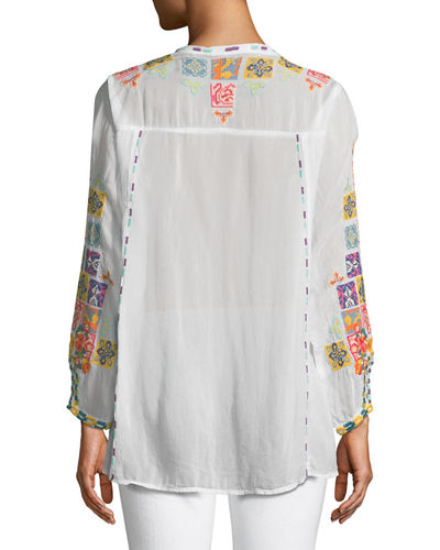 Nikolita Embroidered Blouse , Plus Size
