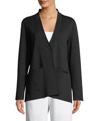 Image 3 of 3: Tencel® Ponte Knit Easy Blazer, Plus Size