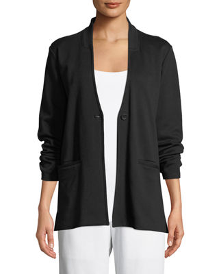 Eileen Fisher Tencel® Ponte Knit Easy Blazer, Plus