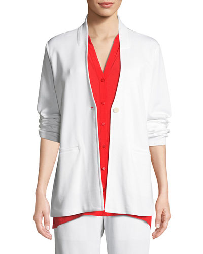Tencel® Ponte Knit Easy Blazer, Plus Size
