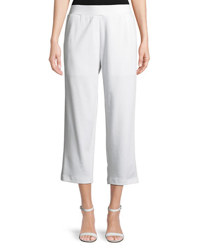 Cropped Ponte Trousers, Plus Size
