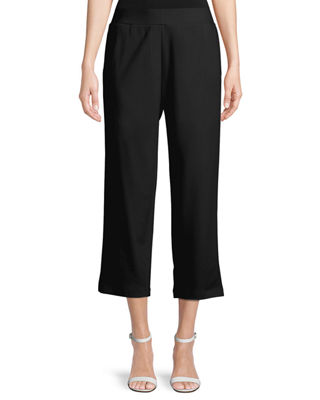Image 1 of 2: Cropped Ponte Trousers, Petite