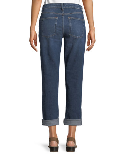 Organic Cotton Stretch Denim Boyfriend Jeans
