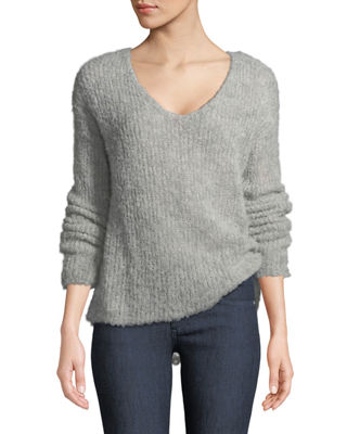 Freda Alpaca-Blend V-Neck Sweater
