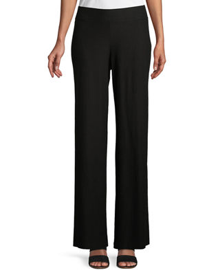 Eileen Fisher Washable Stretch Crepe Modern Straight-Leg Pants