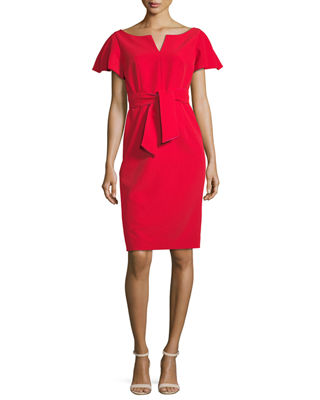 Milly Tina Ruffle-Sleeve Sheath Dress