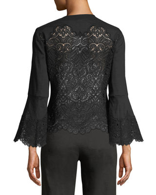 Neve Lace-Back Long-Sleeve Jacket