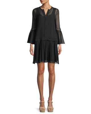 Paloma Bell-Sleeve Mini Dress