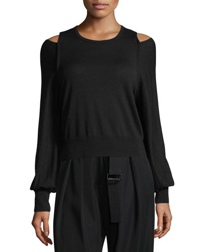 Vince Drawstring Side-Slit Cropped Culotte Pants and Matching