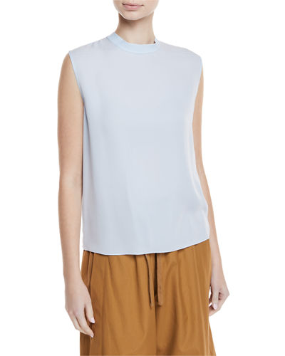 e63ffc723c9ff8 Quick Look. Vince · Self-Tie Sleeveless Silk Blouse