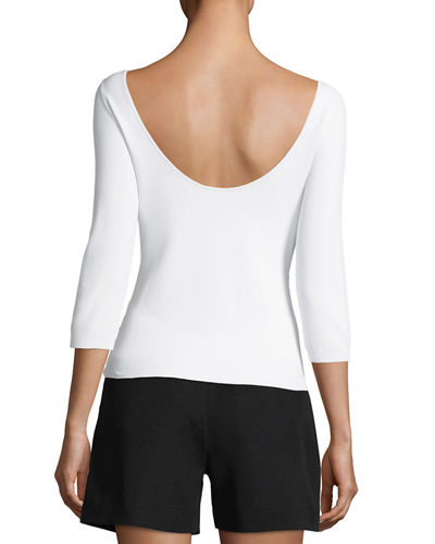 U-Back 3/4-Sleeve Top