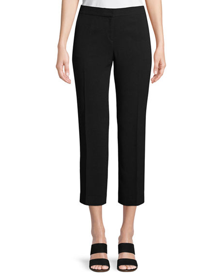 Lafayette 148 New York Manhattan Finesse Crepe Cropped Flare Pants