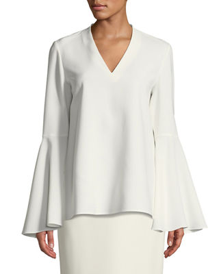 Lafayette 148 New York Jamie Finesse Crepe Blouse