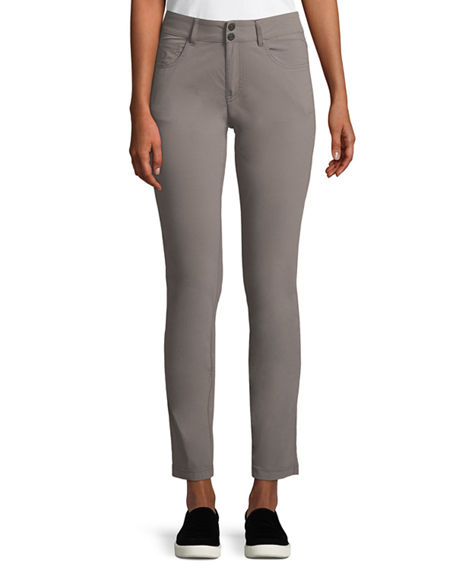 Anatomie Skyler Five Pocket High Rise Pants In Taupe Modesens