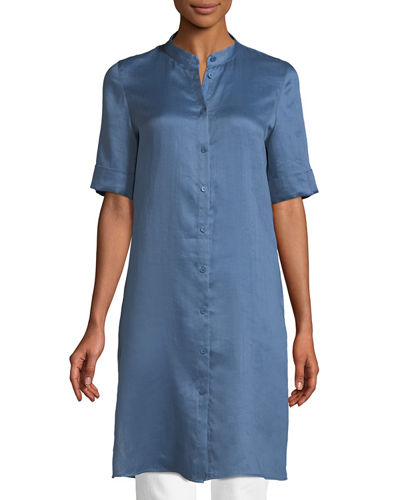 Randi Button-Front Gemma Cloth Tunic