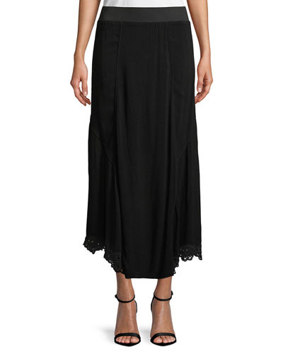 Elica Eyelet-Trim Long Skirt, Plus Size