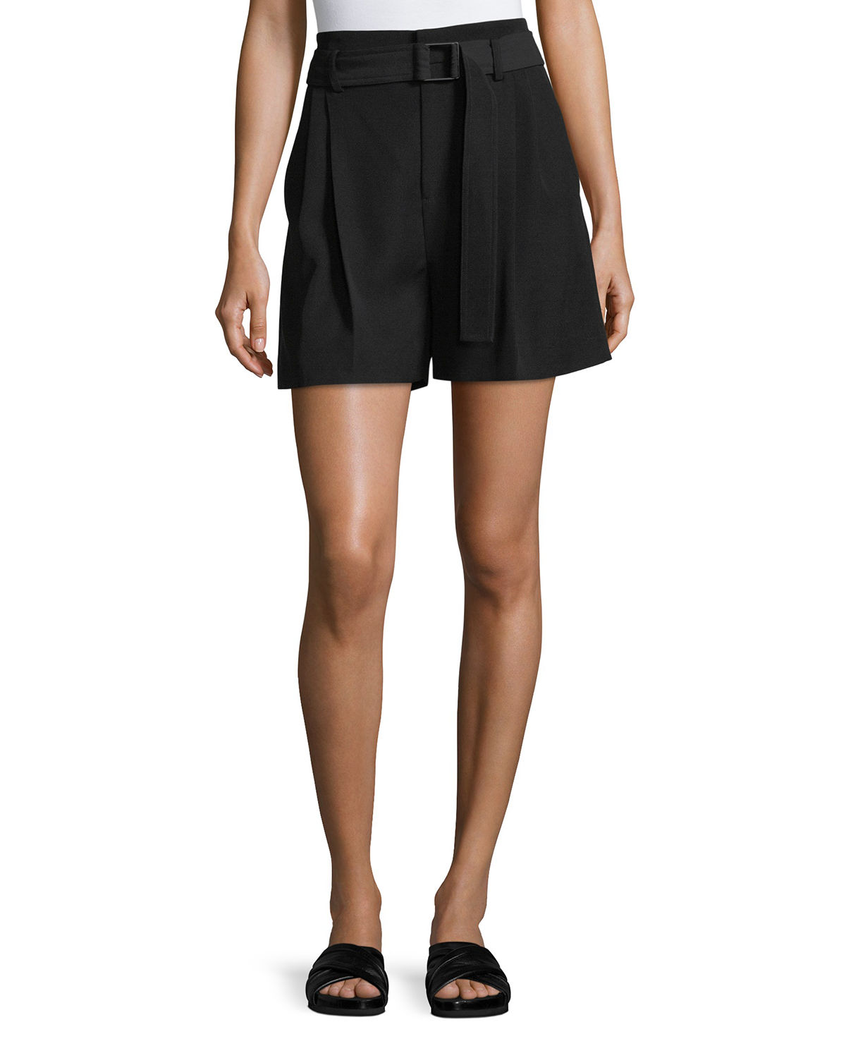 Belted Wide-Leg Shorts