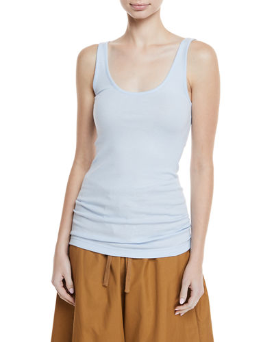 Scoop-Neck Rib-Knit Tank