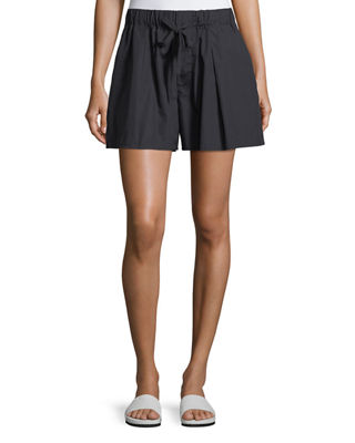 Vince Pleated Self-Tie Cotton Shorts and Matching Items