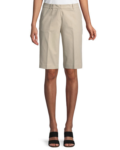 Manhattan Techno-Stretch Twill Slim Bermuda Shorts