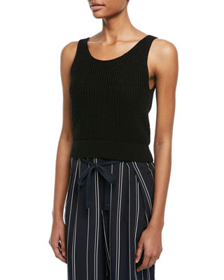 Vince Crossover V-Back Ribbed Tank and Matching Items