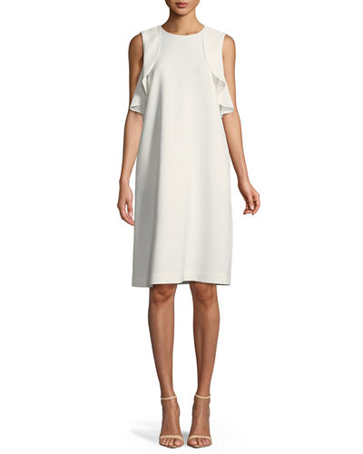 Lafayette 148 New York Kaydence Finesse-Crepe Ruffle Dress