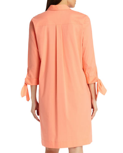 Talia Stretch-Cotton Dress
