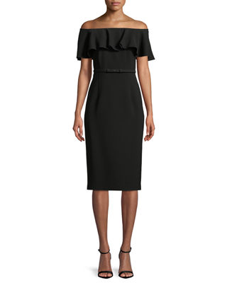 Lafayette 148 New York Diya Finesse Crepe Off-the-Shoulder