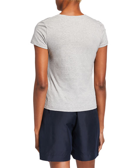 Image 2 of 3: Vince Essential Crewneck Pima Cotton Tee