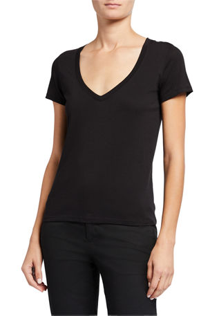 Vince Essential Pima Cotton V-Neck Tee
