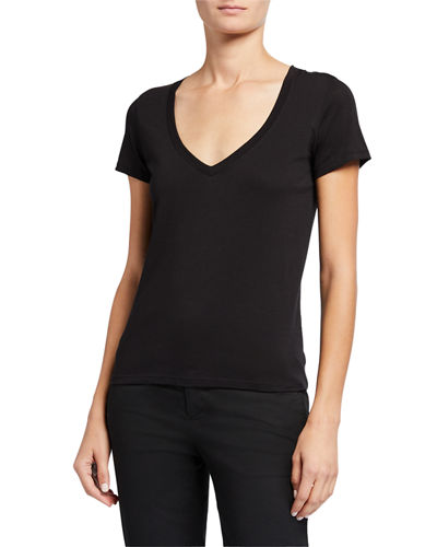 Essential Pima Cotton V-Neck Tee