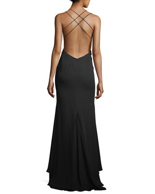 Image 2 of 3: Surreal Dreamer Deep V-Neck Gown