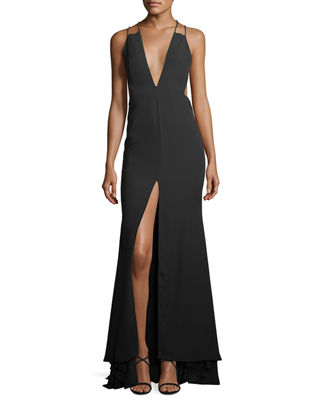 Surreal Dreamer Deep V-Neck Gown