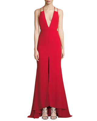 Fame and Partners Surreal Dreamer Deep V-Neck Gown