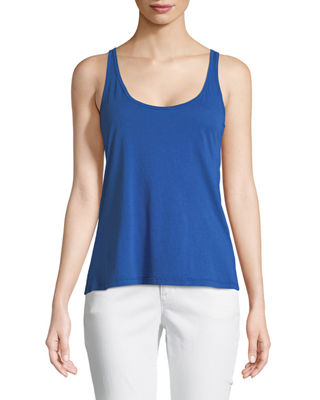 Johnny Was Classic Cotton-Blend Tank, Plus Size
