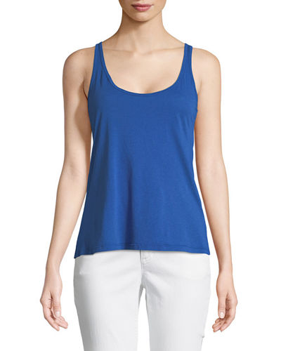Johnny Was Classic Cotton-Blend Tank, Plus Size and
