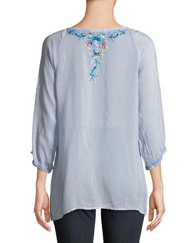 Blue Moon Embroidered Blouse