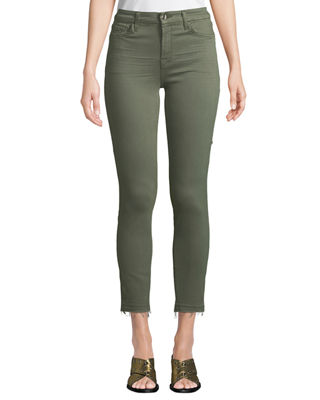 JEN7 BY 7 FOR ALL MANKIND RELEASE HEM COLORED ANKLE SKINNY JEANS